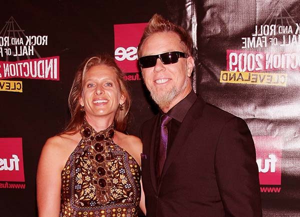 Image of James Hetfield with wife Francesca Hetfield