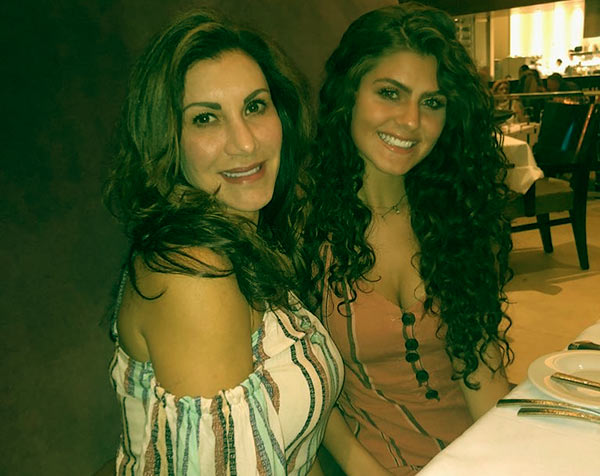 Image of Heather Clem and her daughter Julia went out for dinner on Mother's Day