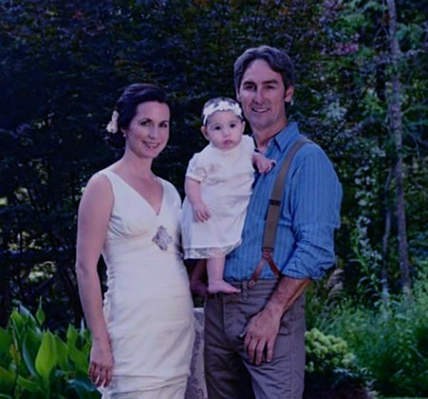 Image of Jodi Faeth and Mike Wolfe's daughter on their wedding