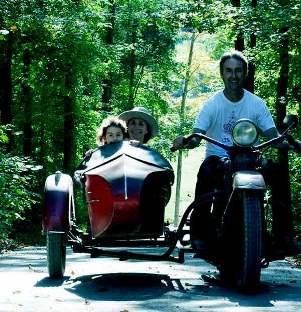 Image of Jodi Faeth enjoying the ride with her daughter, Charlie, and husband, Mike Wolfe