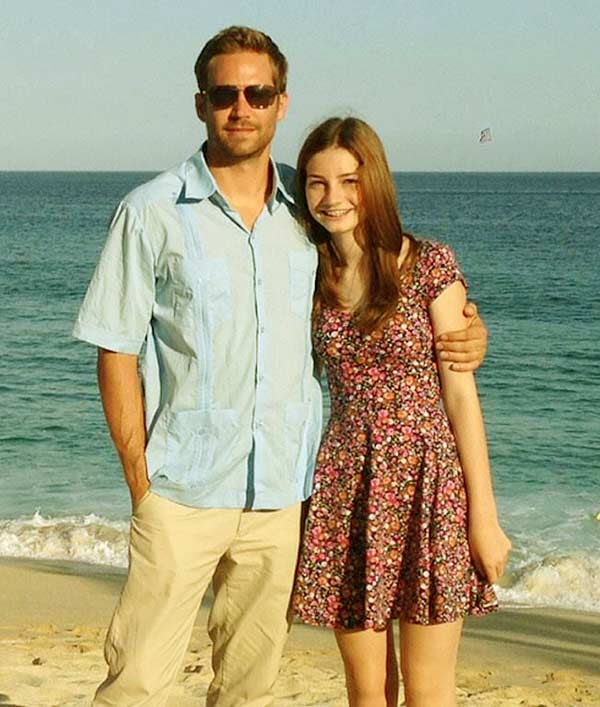 Image of Meadow and late Father Paul Walker