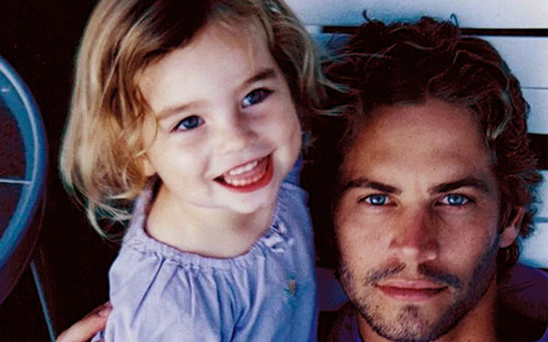 Image of Late Paul Walker and Daughter Meadow