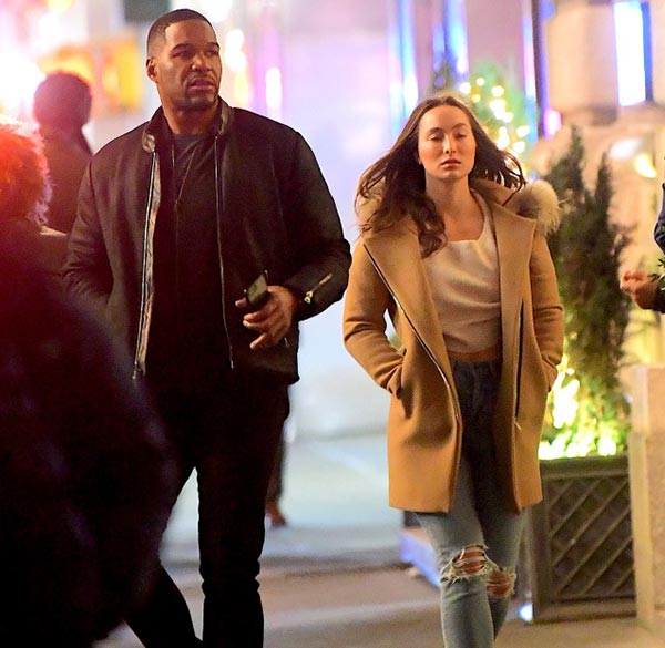 Image of Wanda's former husband Michael Strahan spotted with Kayla Quick on a rare date night