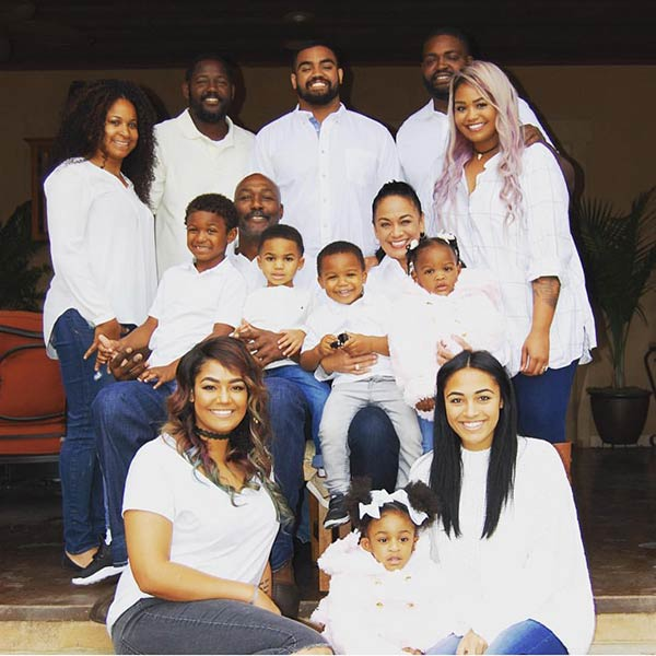 Image of Karl Malone's Family