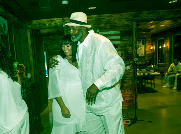 Image of Kadee Malone and her dad Karl Malone co-own a shop, Legends Cigar, and Vapes in Ruston, Louisiana