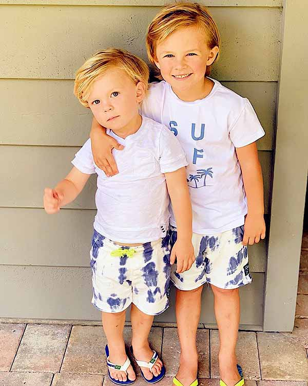 Image of Emily has two adorable sons, Bode and Griffin
