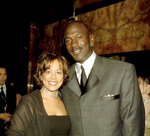 Image of Juanita Vanoy with her ex-husband Michael Jordan