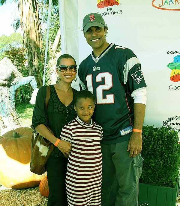 Image of Sasha Gabriella Fox with her father Rick Fox and mother Vanessa L. Williams