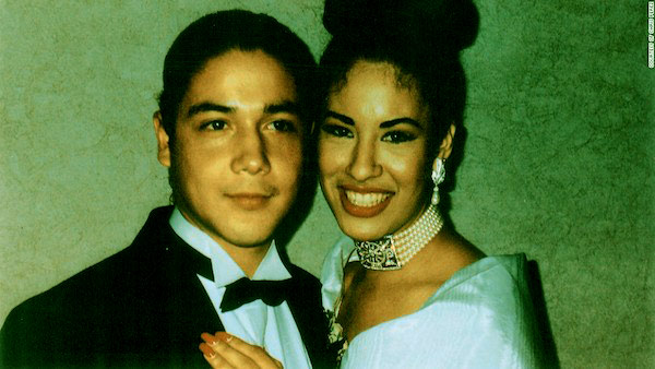 Image of Chris and his first wife, Selena