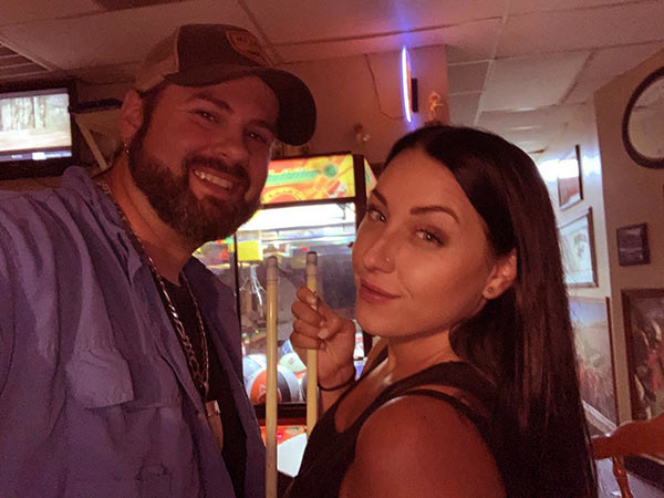 Image of Jimmy Riffel's with girlfriend turned fiancée Sara