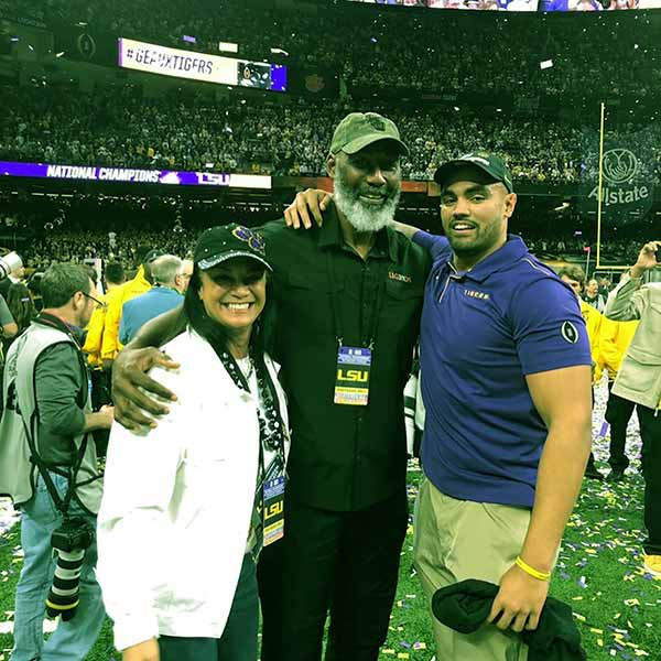 Image of K.J. Malone is the third child of Karl Malone and Kay Kinsey