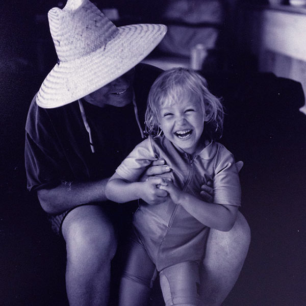 Image of Birgen Anika Hartman with her father Phil Hartman