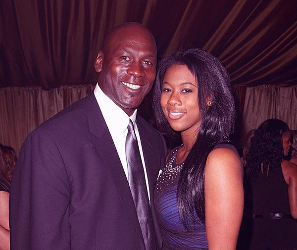 Image of Michael Jordan with his daughter Jasmine Mickael Jordan