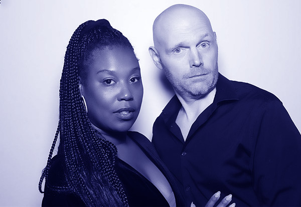 Image of Nia Renee Hill with her husband Bill Burr