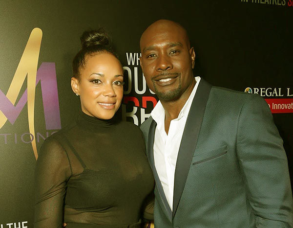 Image of Pam Byse with her husband Morris Chestnut