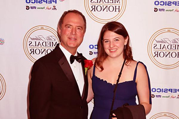 Image of Alexa Schiff and her dad, Adam Schiff