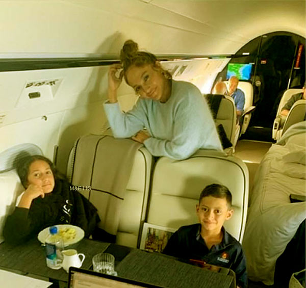 Image of Max and twin sister flew with their mom, Jennifer Lopez to New York