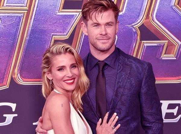 Image of India Rose Hemsworth's parents Chris Hemsworth and Elsa Pataky