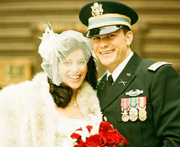 Image of Samantha Hegseth with her ex-husband Pete Hegseth on their wedding