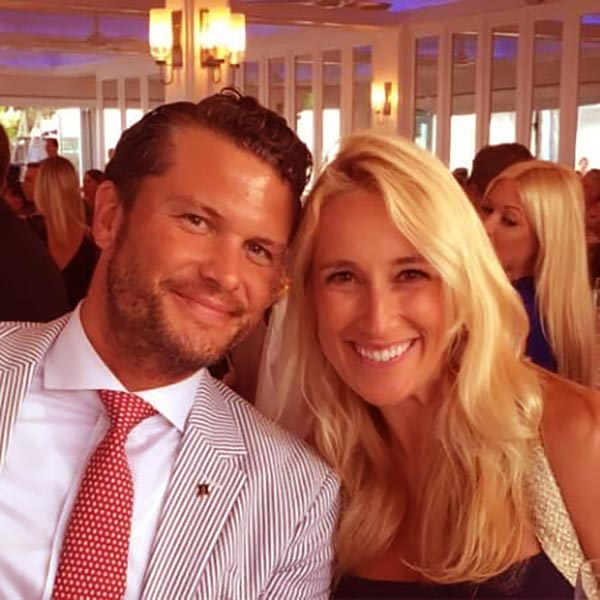 Image of Samantha Hegseth's ex-husband Pete Hegseth with his new date Jennifer Rauchet