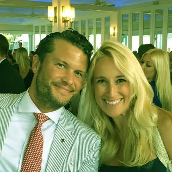 Image of Jennifer Rauchet with her husband, Pete Hegseth