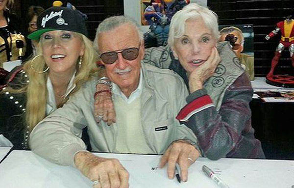 Image of Joan Celia Lee with mother Joan Lee and father Stan Lee