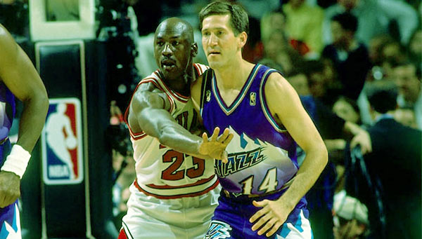 Image of Jeff Hornacek's rivalry with Michael Jordan