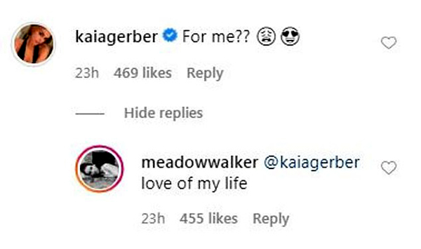 Image of Meadow tagged Kia Gerber