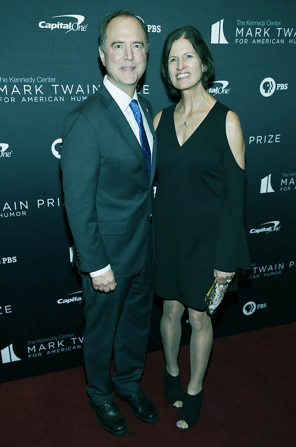 Image of Adam Schiff and his wife, Eve Schiff