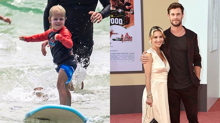 Image of Sasha Hemsworth wikipedia: facts, age, parents, siblings of Chris Hemsworth and Elsa Pataky's son