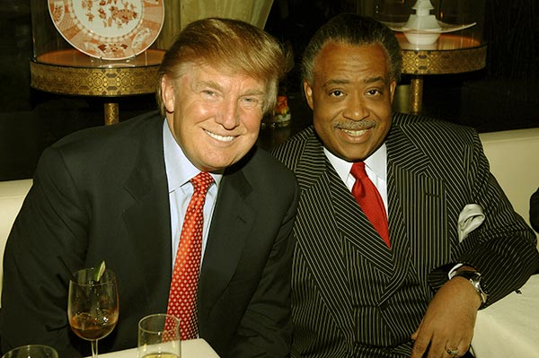 Image of Al Sharpton with Donald Trump