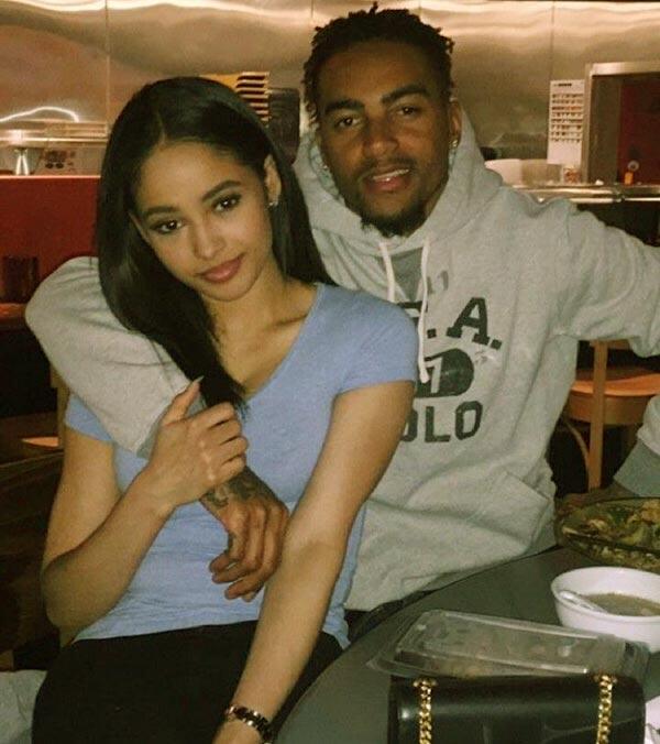 Image of Kayla Phillips with her boyfriend DeSean Jackson